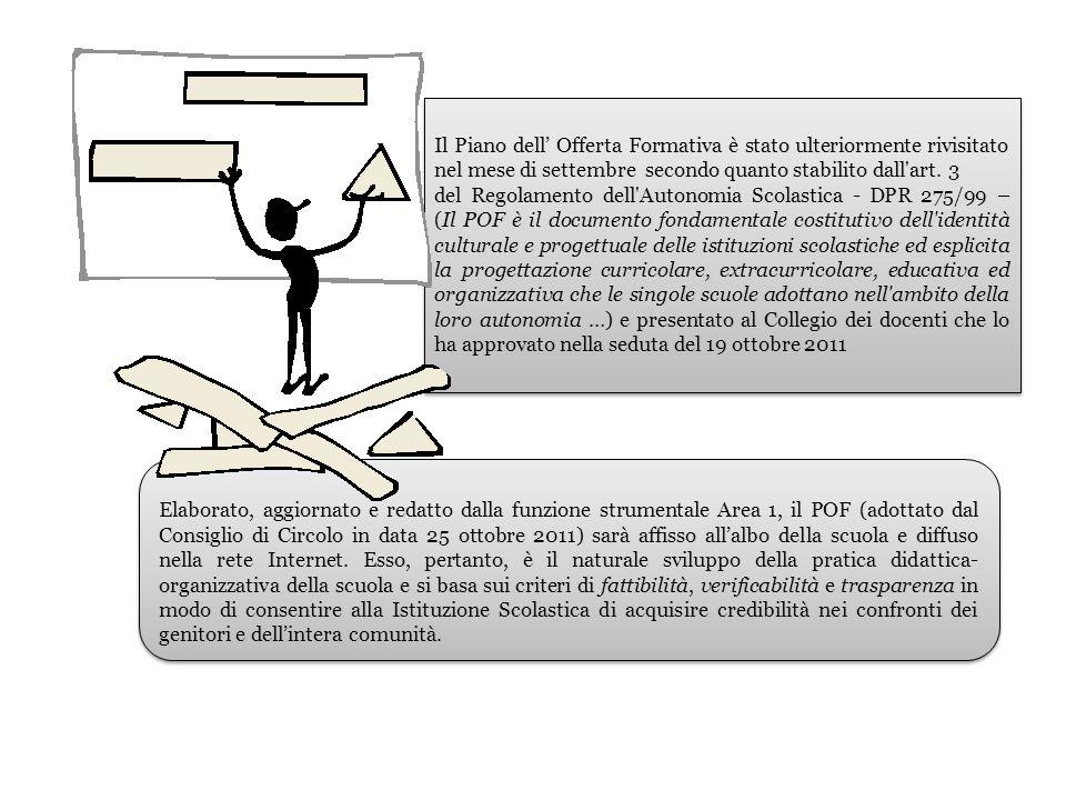 Il Piano dell' Offerta Formativa è stato ulteriormente rivisitato nel mese di settembre secondo quanto stabilito dall art. 3