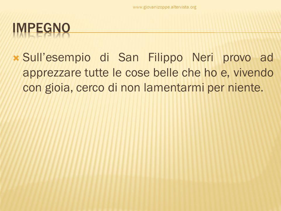 www.giovanizoppe.altervista.org Impegno.