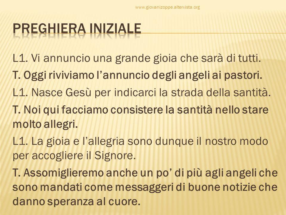 www.giovanizoppe.altervista.org Preghiera iniziale.