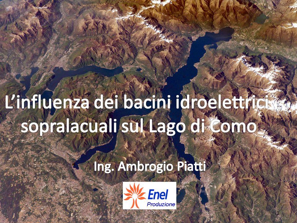 L'influenza dei bacini idroelettrici sopralacuali sul Lago di Como