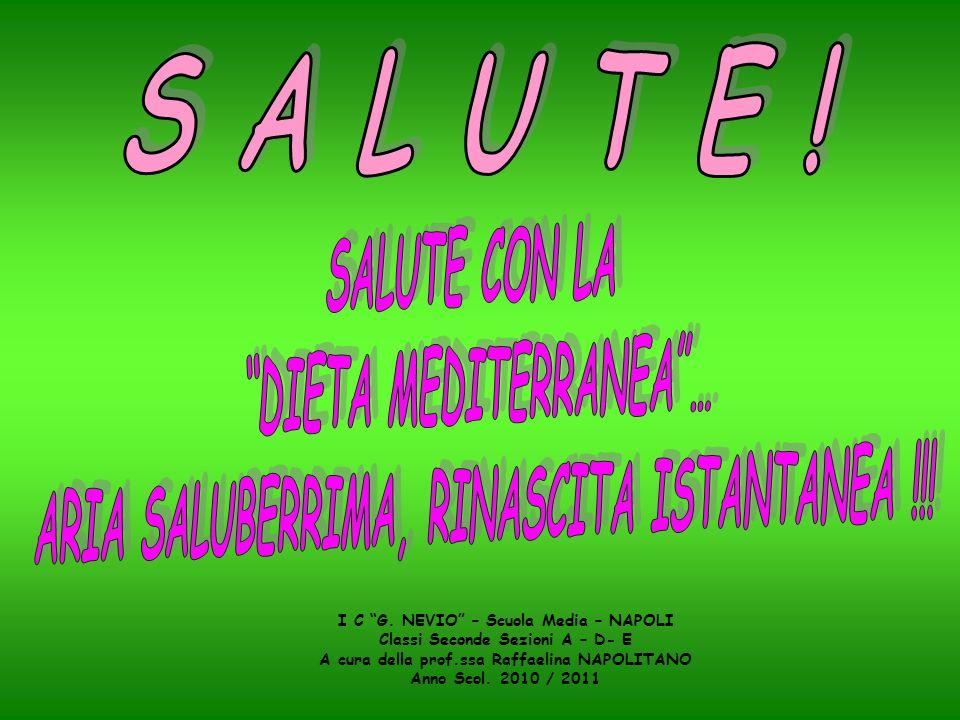 DIETA MEDITERRANEA … ARIA SALUBERRIMA, RINASCITA ISTANTANEA !!!