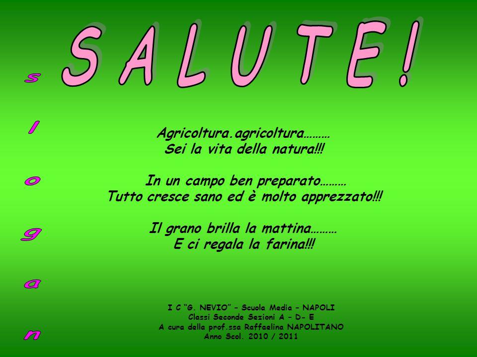 S A L U T E ! s l o g a n Agricoltura.agricoltura………