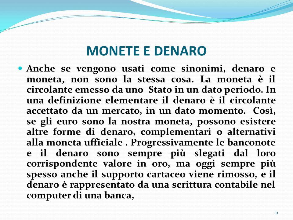 MONETE E DENARO