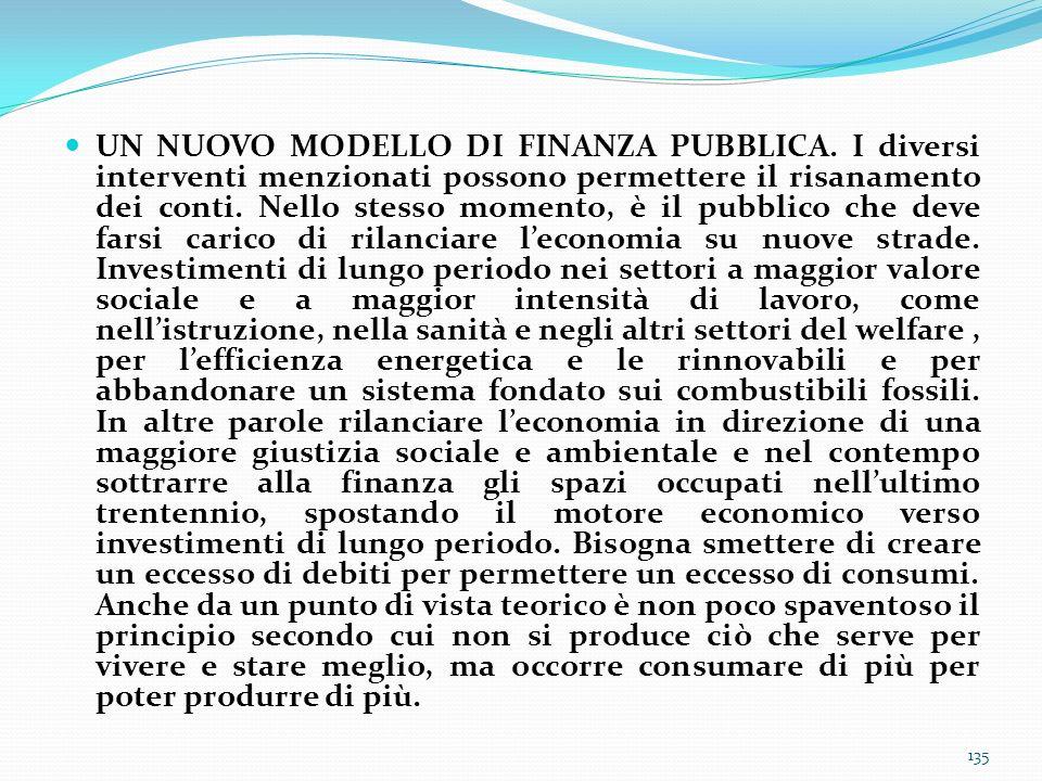 UN NUOVO MODELLO DI FINANZA PUBBLICA