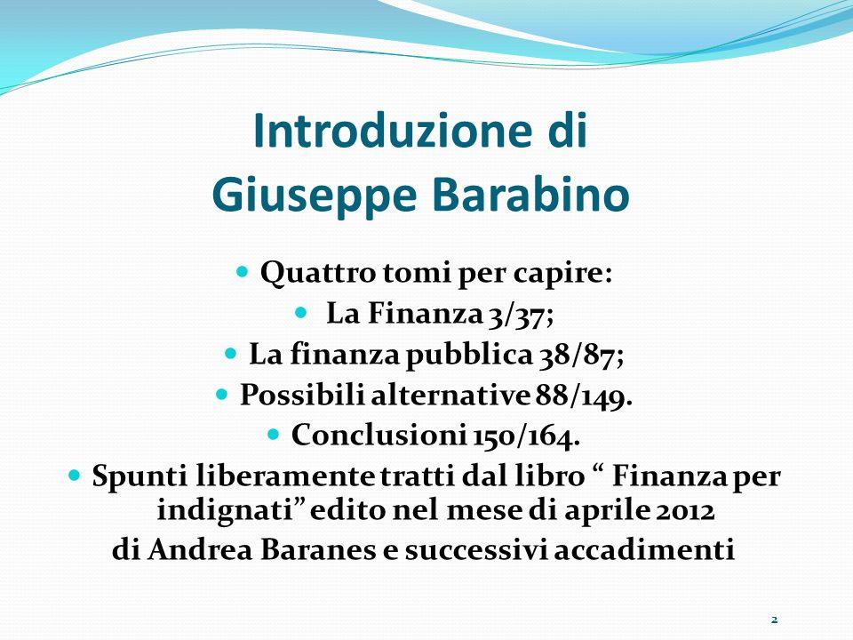 Introduzione di Giuseppe Barabino