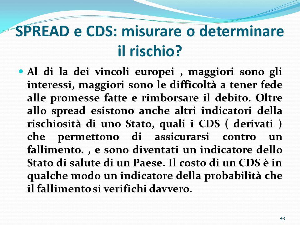 SPREAD e CDS: misurare o determinare il rischio