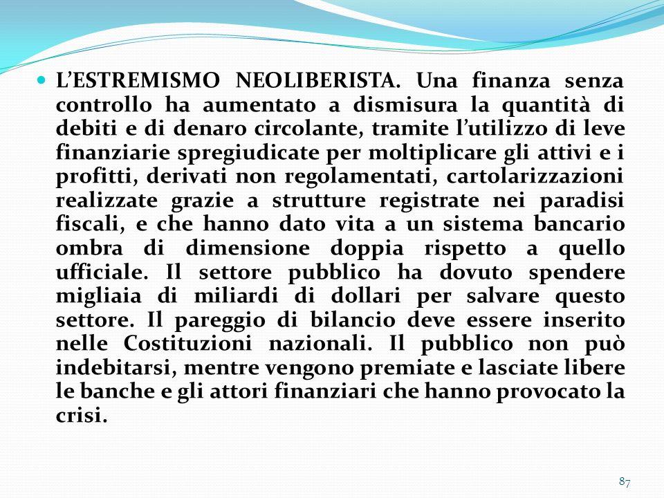 L'ESTREMISMO NEOLIBERISTA