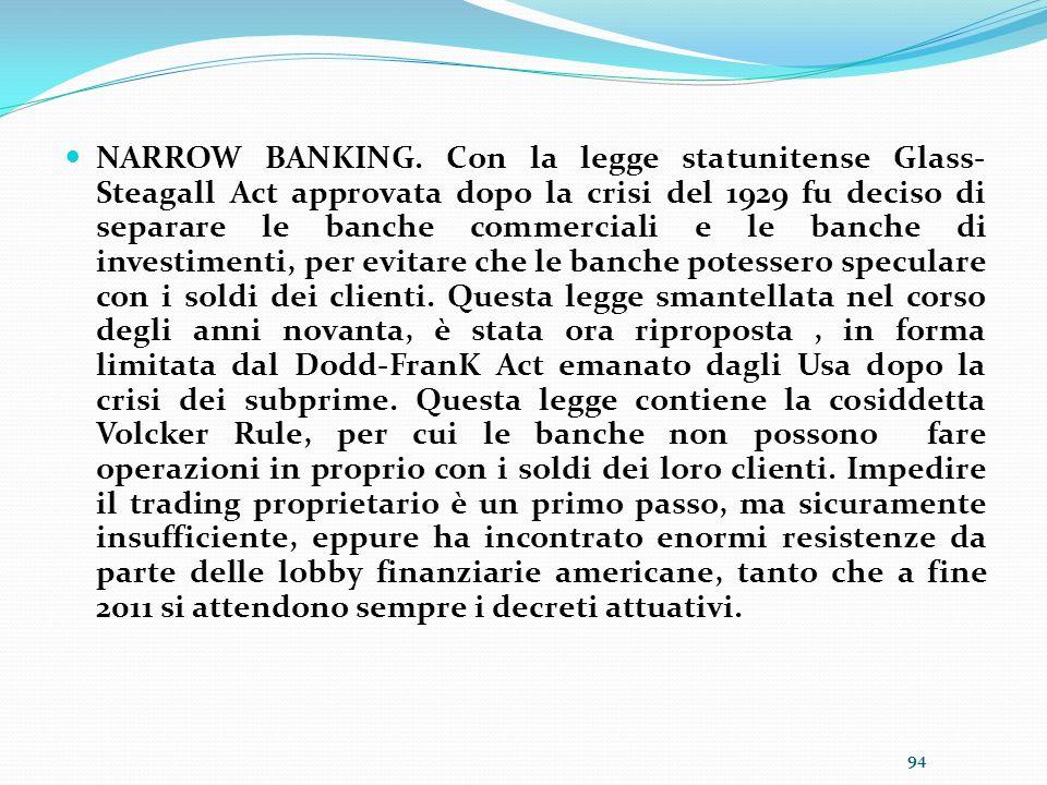 NARROW BANKING.