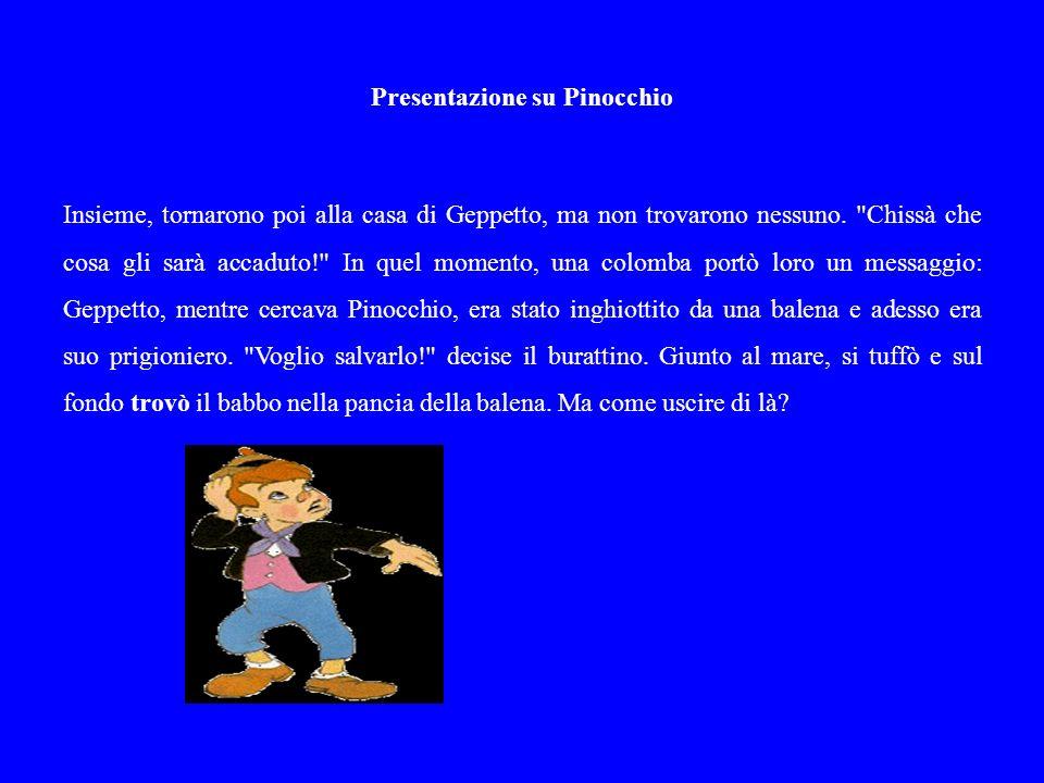 Presentazione su Pinocchio