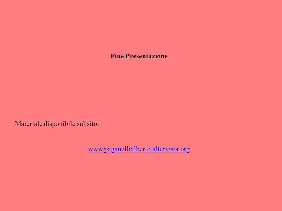 Fine Presentazione Materiale disponibile sul sito: www