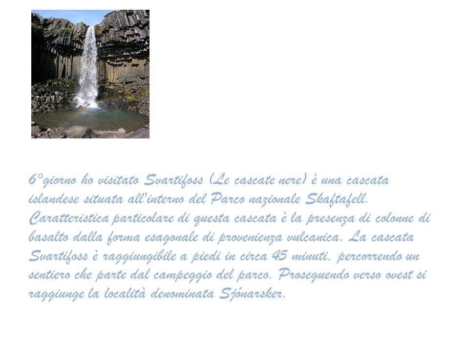 6°giorno ho visitato Svartifoss (Le cascate nere) è una cascata islandese situata all interno del Parco nazionale Skaftafell.
