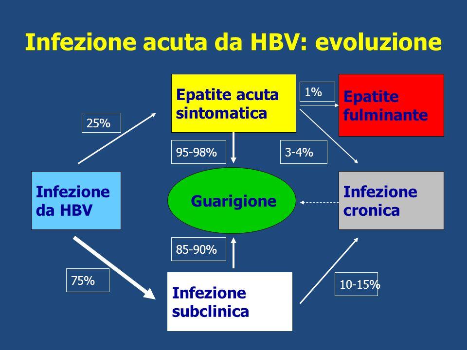 Infezione acuta da HBV: evoluzione