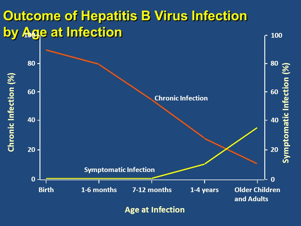 Outcome of Hepatitis B Virus Infection by Age at Infection