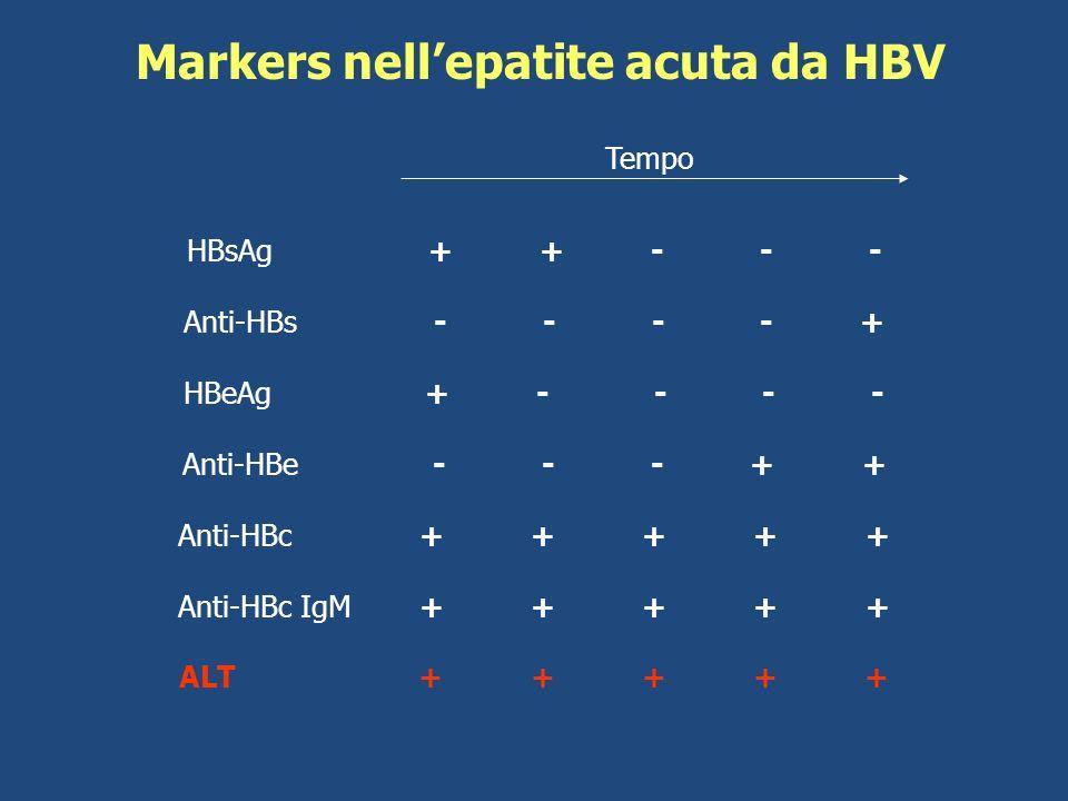 Markers nell'epatite acuta da HBV