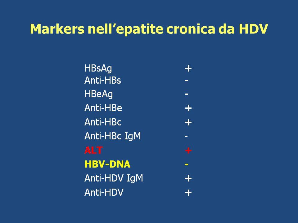 Markers nell'epatite cronica da HDV