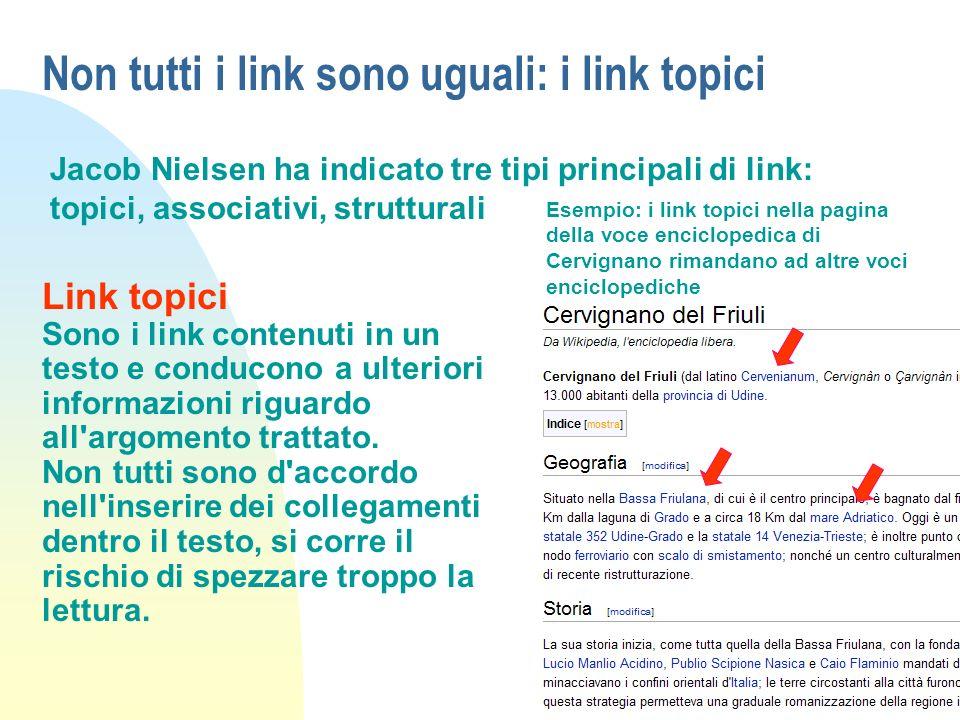Non tutti i link sono uguali: i link topici