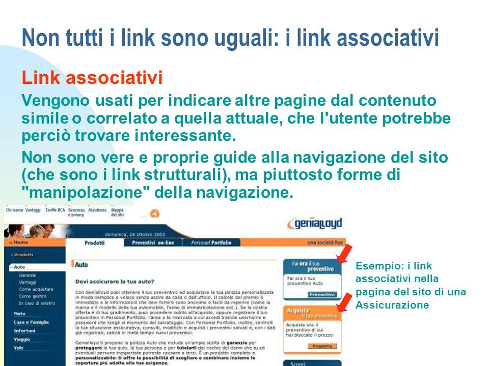 Non tutti i link sono uguali: i link associativi