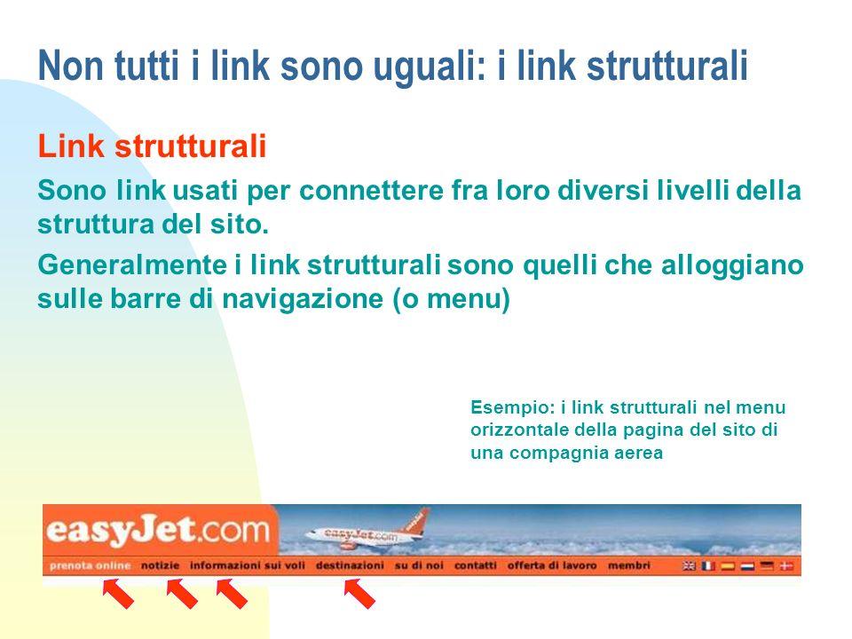 Non tutti i link sono uguali: i link strutturali