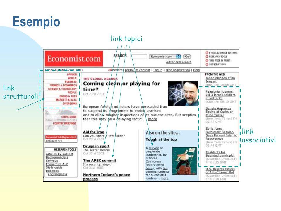 Esempio link topici link strutturali link associativi