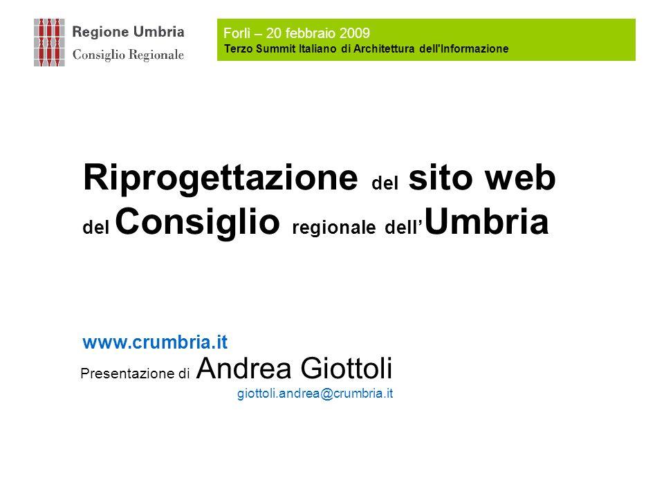 Presentazione di Andrea Giottoli giottoli.andrea@crumbria.it