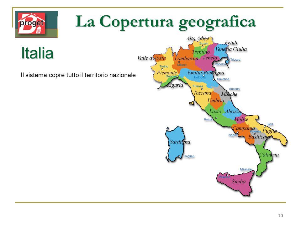La Copertura geografica