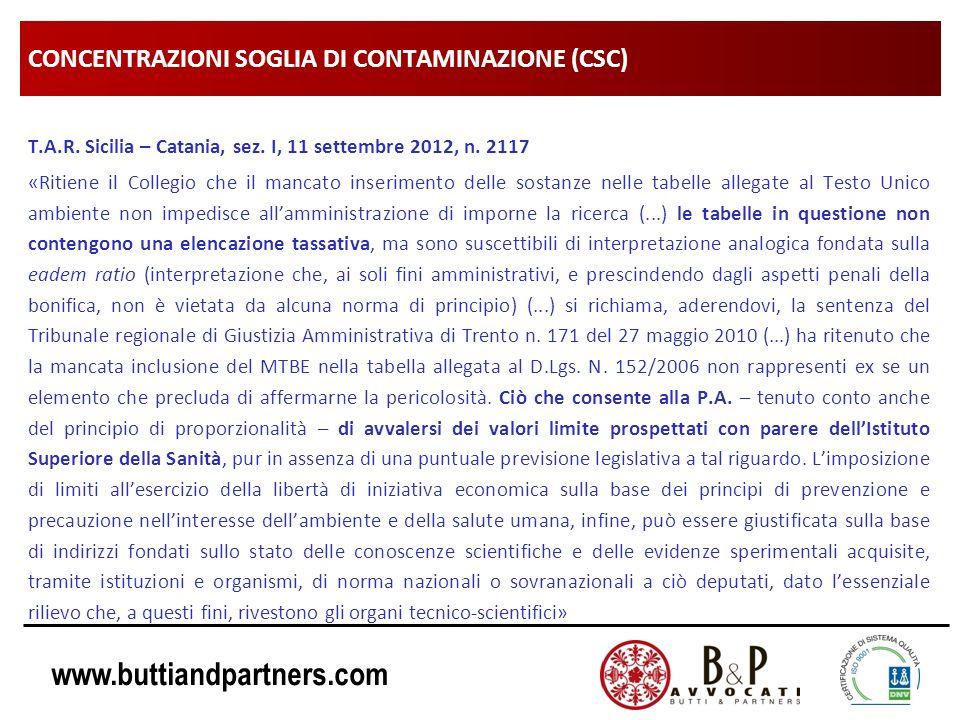 CONCENTRAZIONI SOGLIA DI CONTAMINAZIONE (CSC)