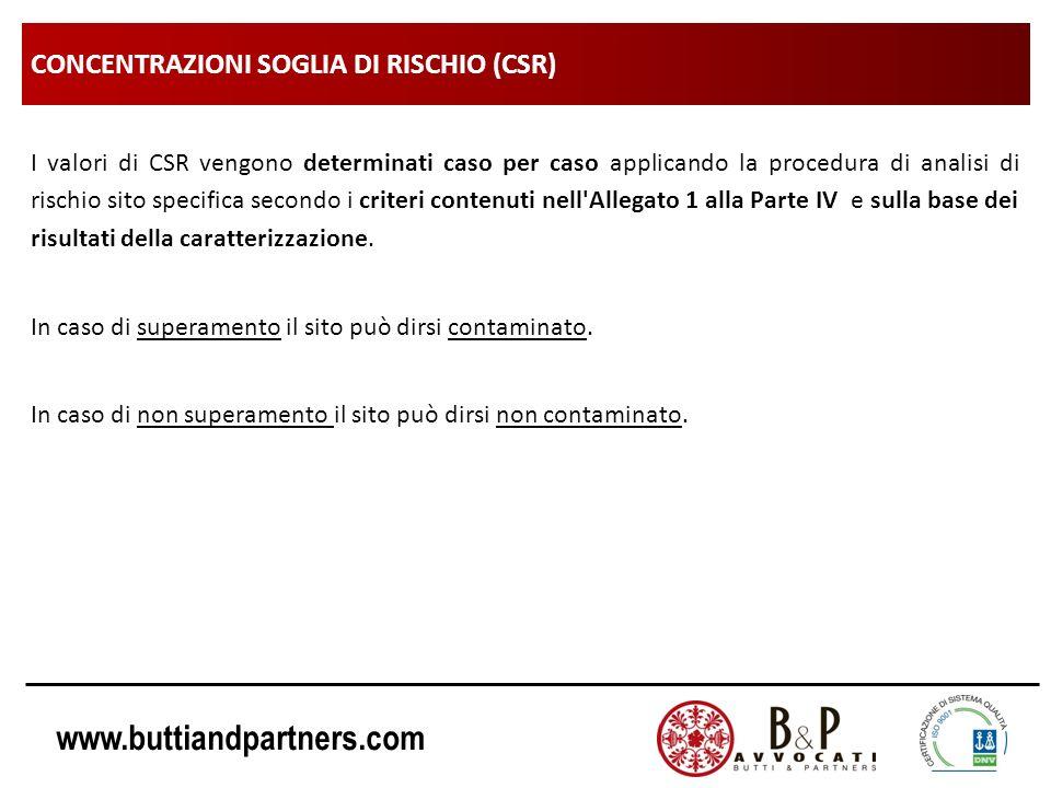 CONCENTRAZIONI SOGLIA DI RISCHIO (CSR)