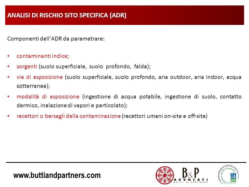 ANALISI DI RISCHIO SITO SPECIFICA (ADR)