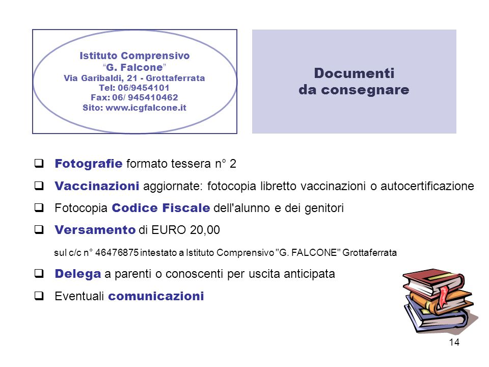 Documenti da consegnare  Fotografie formato tessera n° 2
