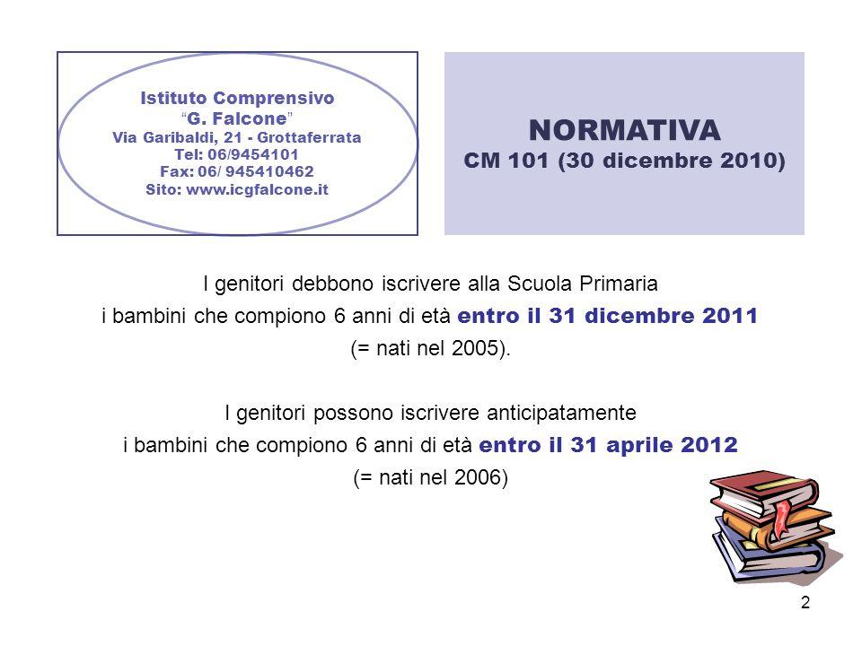 NORMATIVA CM 101 (30 dicembre 2010)