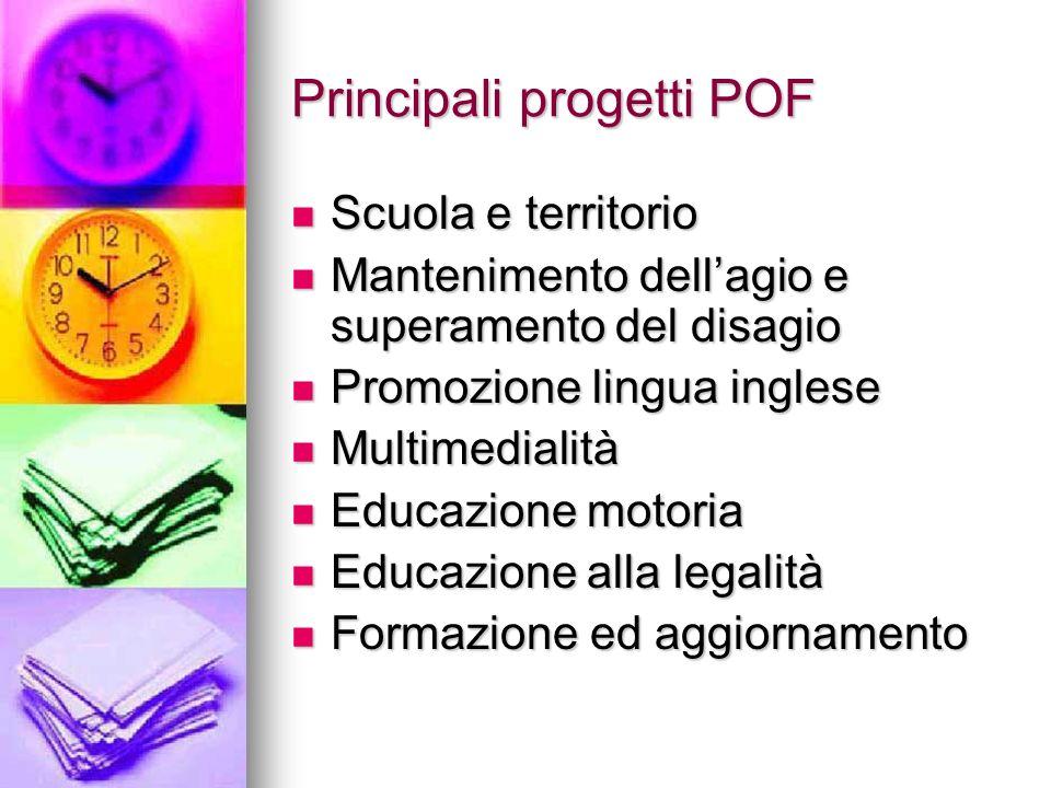 Principali progetti POF