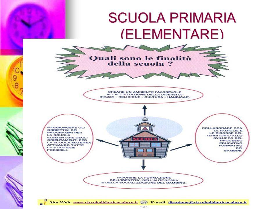 SCUOLA PRIMARIA (ELEMENTARE)
