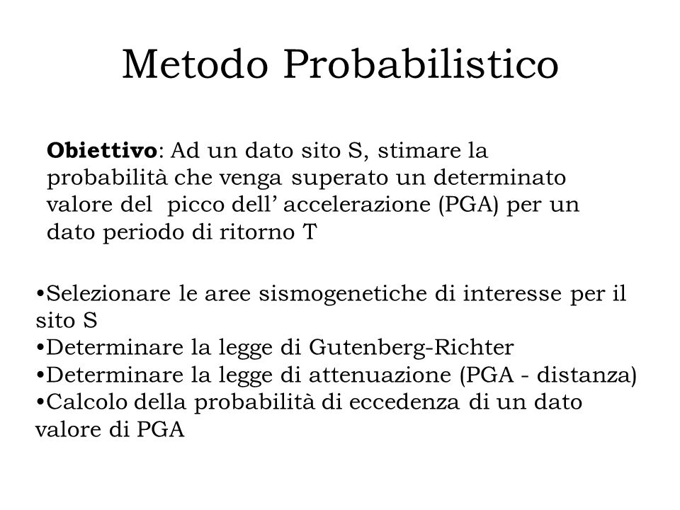 Metodo Probabilistico