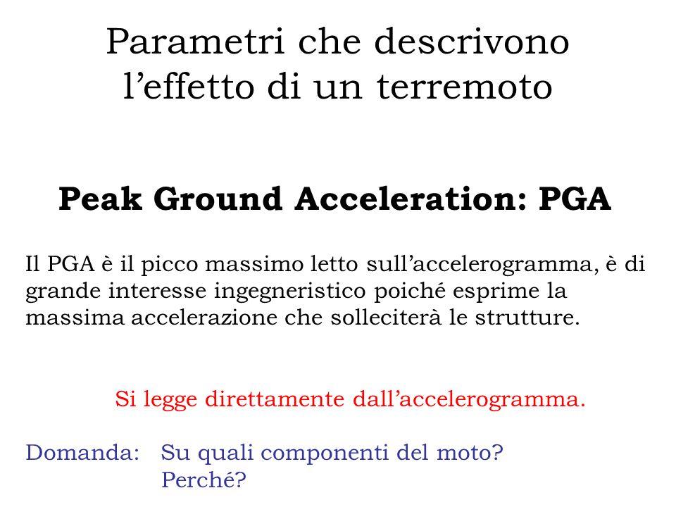 Parametri che descrivono l'effetto di un terremoto