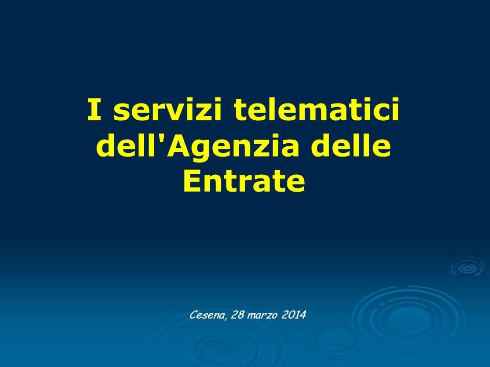 I servizi telematici dell Agenzia delle Entrate