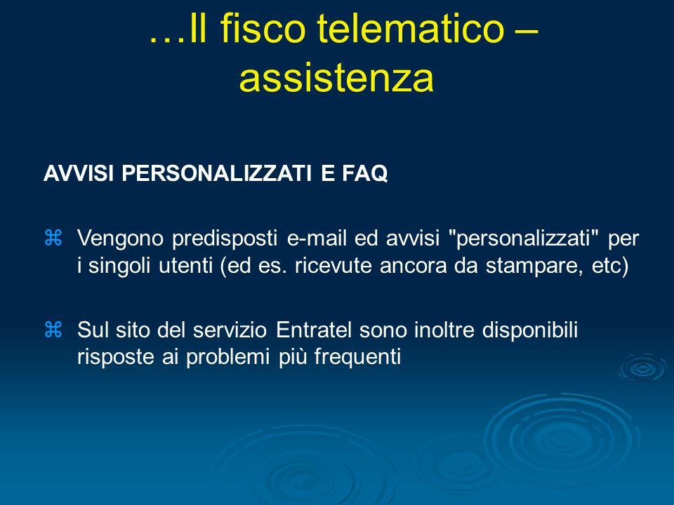 …Il fisco telematico – assistenza