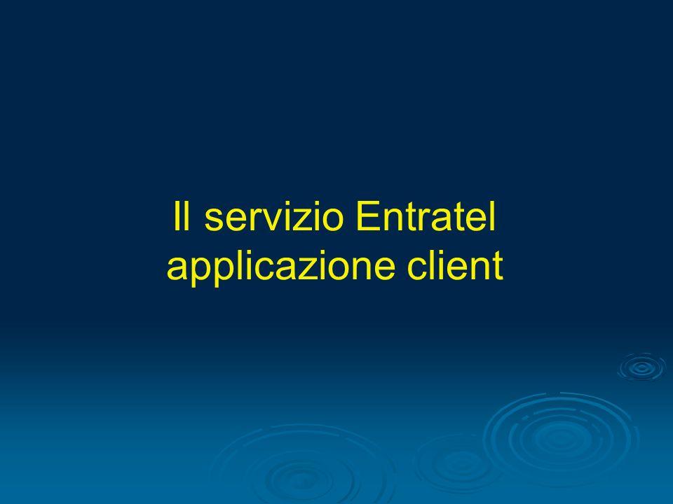 Il servizio Entratel applicazione client