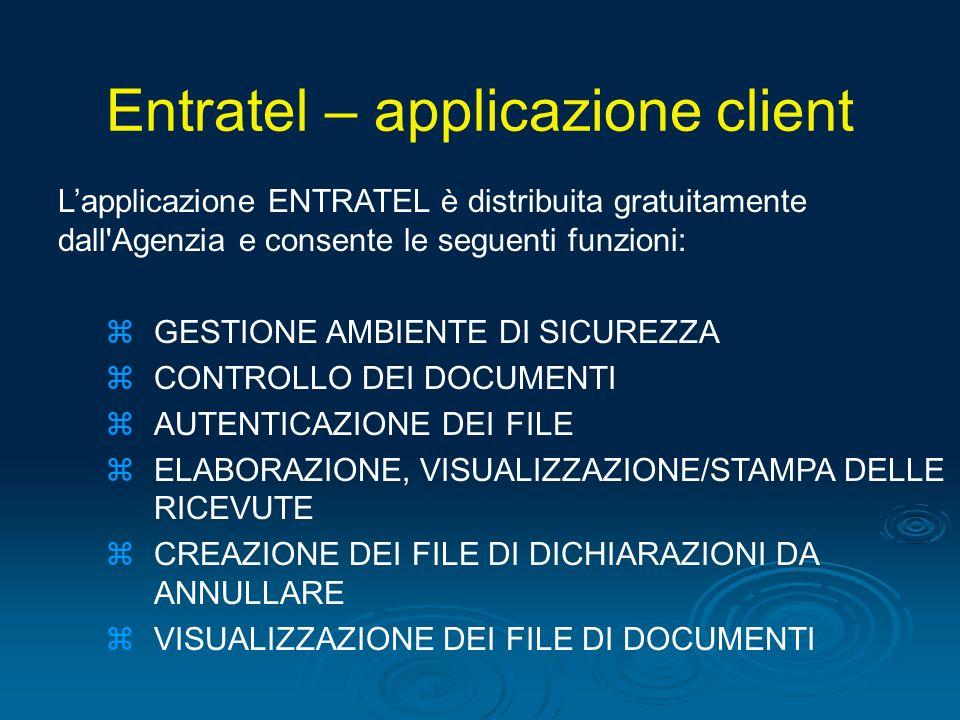 Entratel – applicazione client