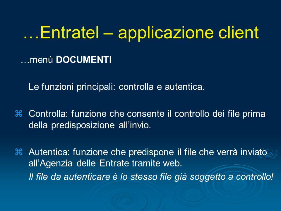 …Entratel – applicazione client