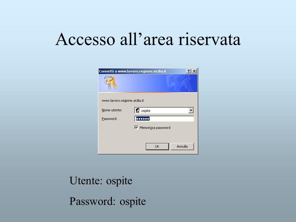 Accesso all'area riservata