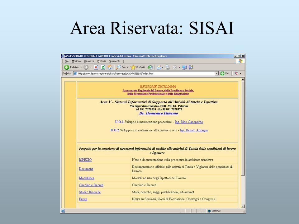 Area Riservata: SISAI