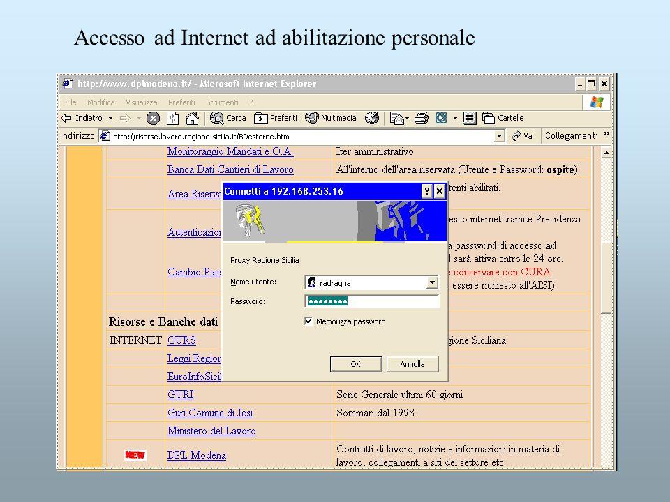 Accesso ad Internet ad abilitazione personale