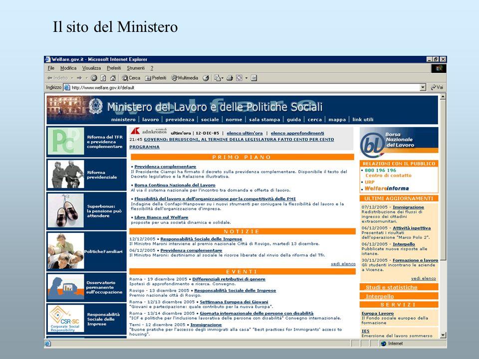 Il sito del Ministero