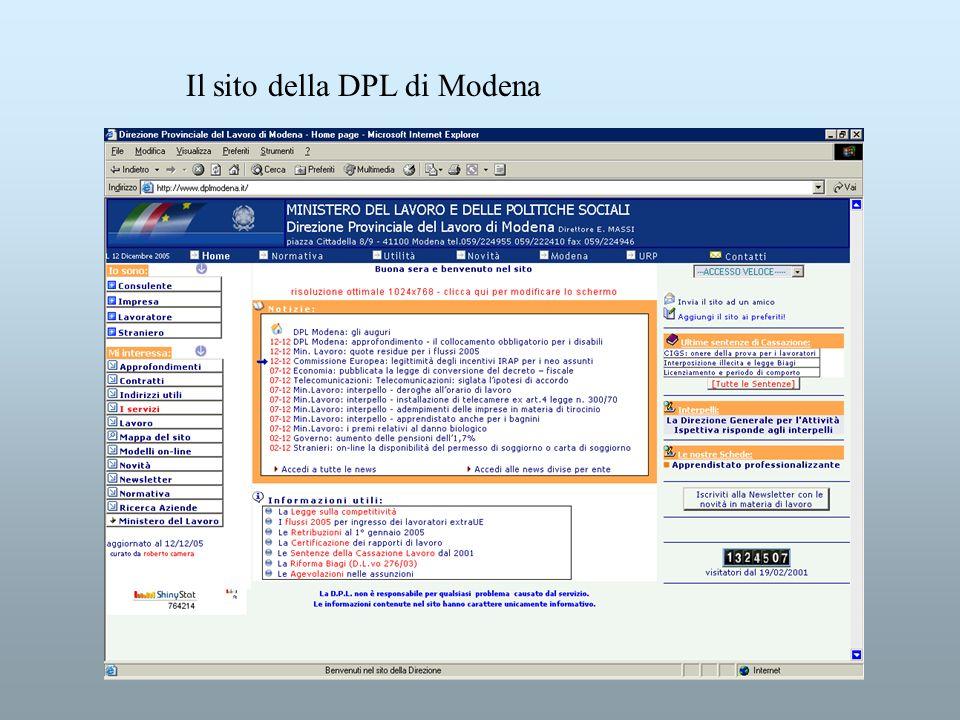 Il sito della DPL di Modena
