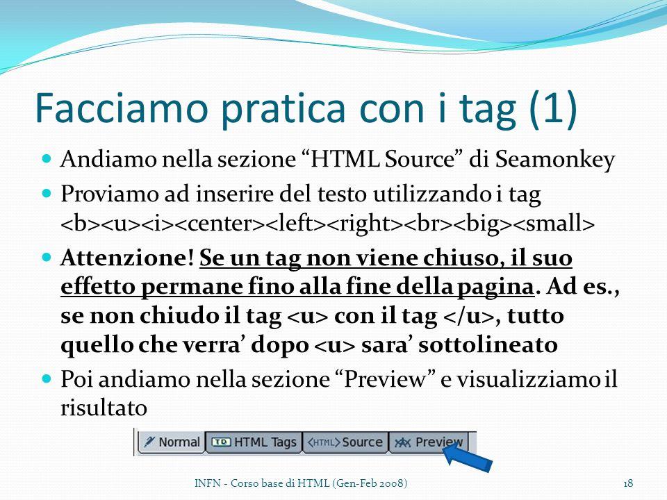 Facciamo pratica con i tag (1)