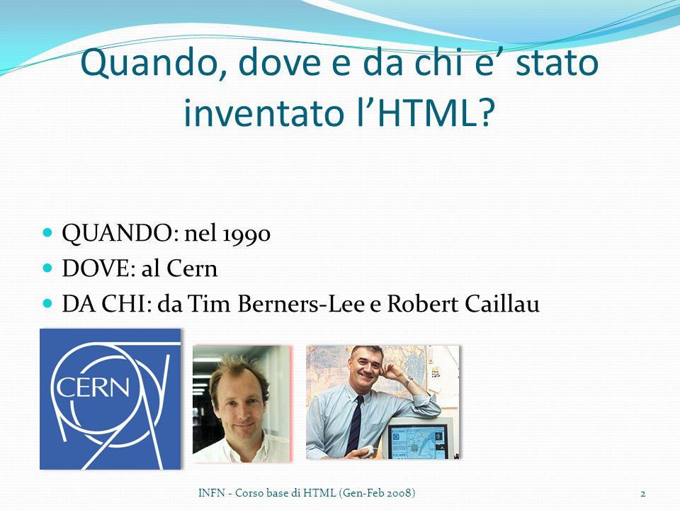 Quando, dove e da chi e' stato inventato l'HTML