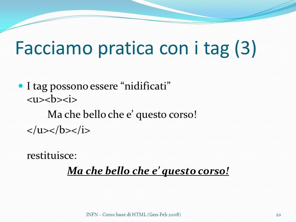 Facciamo pratica con i tag (3)