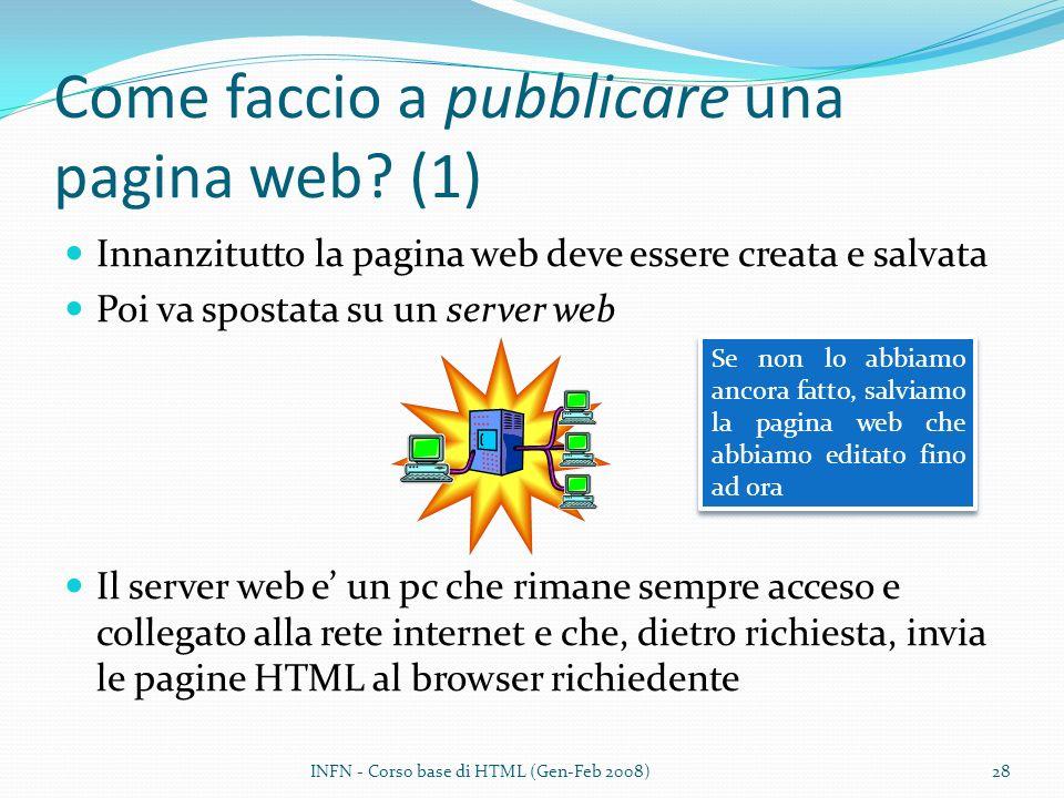 Come faccio a pubblicare una pagina web (1)