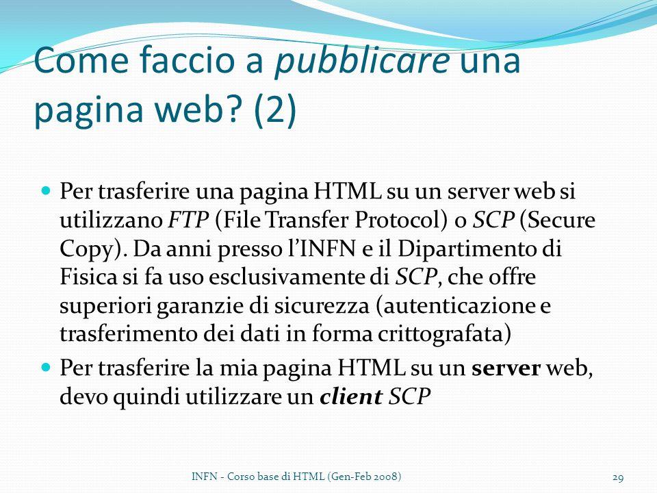 Come faccio a pubblicare una pagina web (2)