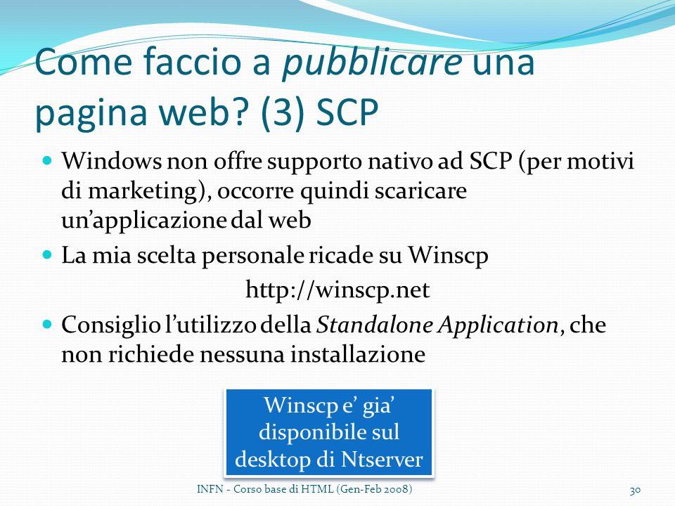 Come faccio a pubblicare una pagina web (3) SCP